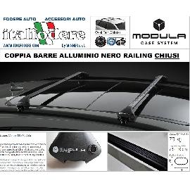 Alfa 156 Sportwagon Dal 2000 Al 2005 BARRE Portatutto MODULA Portabagagli Portapacchi ALLUMINIO NERE