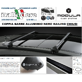JAGUAR XF Sport Brake dal 2012 in poi BARRE Portatutto MODULA Portabagagli Portapacchi ALLUMINIO NERE