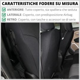 FODERE COPRISEDILI Su Misura per Volkswagen T-Cross Fodera FODERINE COMPLETE