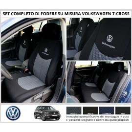 FODERE COPRISEDILI Su Misura per Volkswagen T-Cross Fodera FODERINE COMPLETE VARI COLORI