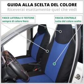 Coppia Coprisedili Specifici Citroen C1 Fodere Foderine Solo Anteriori Colore 37