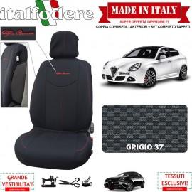 Coppia Coprisedili Specifici Alfa Romeo Giulietta Fodere Foderine Solo Anteriori Colore 37