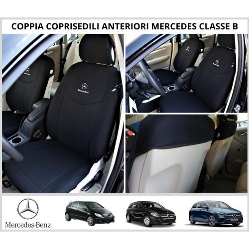 Coppia Coprisedili Specifici Mercedes Classe B Con Loghi Fodere Foderine Solo Anteriori Vari Colori