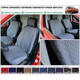Coppia Coprisedili TRAPUNTATI Specifici Fiat Panda II Serie dal 2003 al 2011 Piumini Piumotti Solo Anteriori VARI COLORI