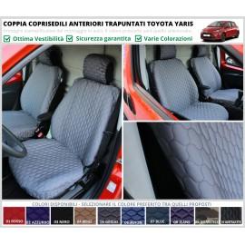 Coppia Coprisedili Trapuntati Specifici Toyota Yaris Piumini Piumotti Solo Anteriori Vari Colori