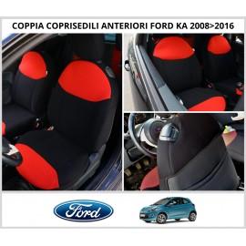 Coppia Coprisedili Specifici Ford Ka dal 2008 al 2016 Fodere Foderine Solo Anteriori VARI COLORI