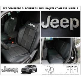 FODERE COPRISEDILI Vera Pelle Su Misura per Jeep Compass dal 2016 Fodera Foderine Tappezzeria