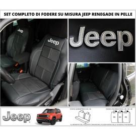FODERE COPRISEDILI in Vera Pelle Su Misura per Jeep Renegade Fodera Foderine Tappezzeria