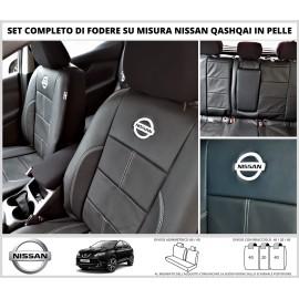 FODERE COPRISEDILI Su Misura Vera Pelle per Nissan Qashqai DAL 2014 in poi Fodera FODERINE COMPLETE