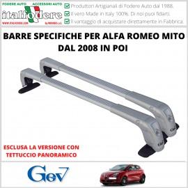 BARRE Portatutto Portapacchi Attacchi SPECIFICI ALFA ROMEO MITO DAL 2008 IN POI Alluminio GEV4822