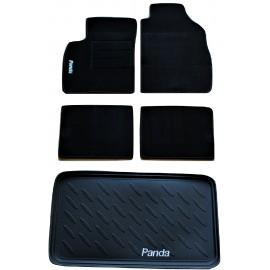 Tappeti Tappetini Su Misura Set Completo Fiat PANDA 03 - 1