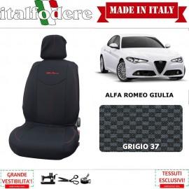 Coppia Coprisedili Specifici Alfa Romeo Giulia Fodere Foderine Solo Anteriori Colore 37 - 1