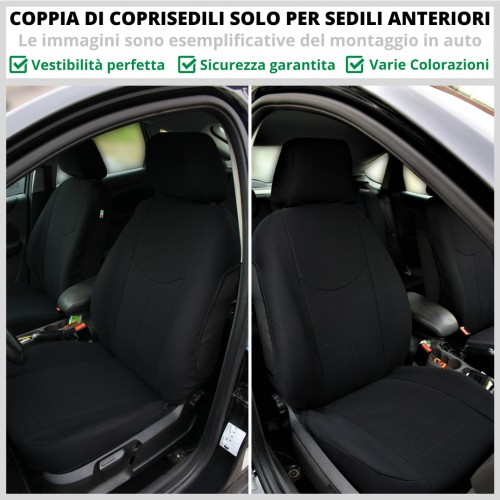 Coppia Coprisedili Specifici Alfa Romeo Stelvio Fodere Foderine Solo Anteriori VARI COLORI