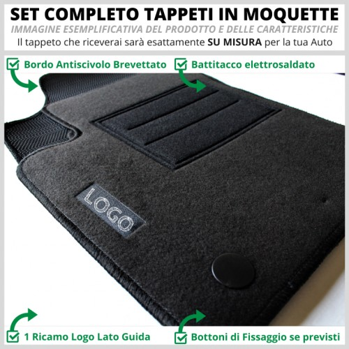 Tappeti Tappetini Su Misura Set Completo Fiat 500X - 1