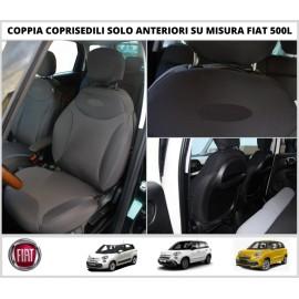 Coppia Coprisedili Fiat 500L Su Misura Fodere Foderine Solo Anteriori Vari Colori