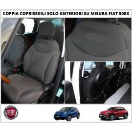COPPIA COPRISEDILI Fiat 500X SU MISURA Fodere Foderine SOLO ANTERIORI VARI COLORI