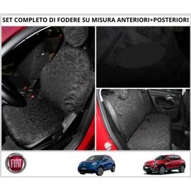 Fodere Coprisedili Su Misura Per Fiat 500X Fodera Foderine Complete Vari Colori
