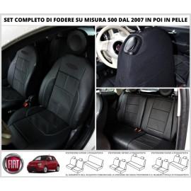 FODERE COPRISEDILI in Vera Pelle Su Misura per FIAT 500 Fodera FODERINE COMPLETE