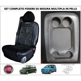 Fodere Coprisedili in Vera Pelle Per Fiat Multipla su Misura 6 Foderine SET COMPLETO