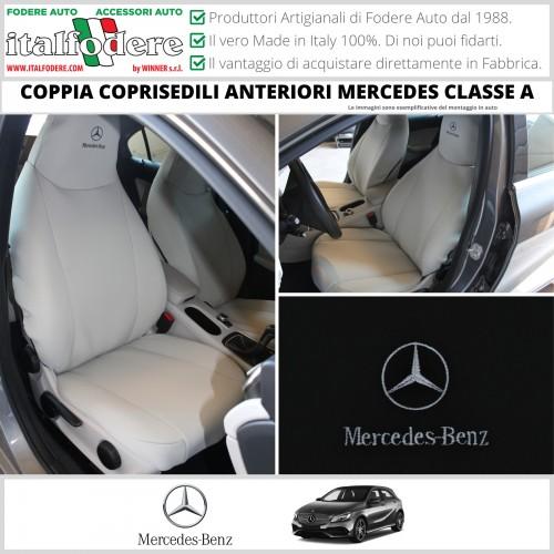 Coppia Coprisedili Specifici Mercedes GLA Fodere Foderine Solo Anteriori Colore Nero