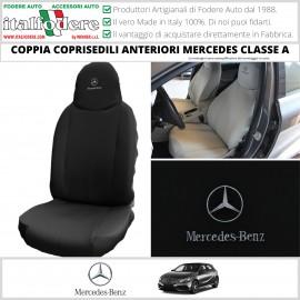 Coppia Coprisedili Specifici Mercedes Classe A Fodere Foderine Solo Anteriori Colore Nero