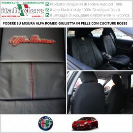 Set Coprisedili Su Misura Alfa Romeo Giulietta Con Loghi Fodere Foderine Vari Colori