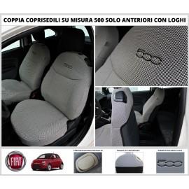 Coppia Coprisedili Specifici Fiat 500 Fodere Foderine Solo Anteriori Vari Colori