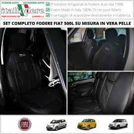 FODERE COPRISEDILI Su Misura in Vera Pelle per FIAT 500L Fodera FODERINE COMPLETE