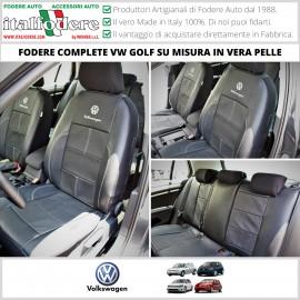 Fodere Coprisedili Su Misura Per Volkswagen Golf Fodera Foderine In Vera Pelle Complete