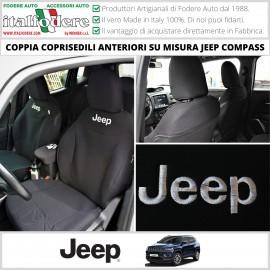 Coppia Coprisedili Specifici Jeep Compass Fodere Foderine Solo Anteriori Vari Colori