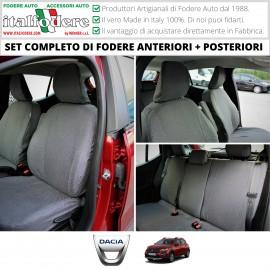 Fodere Coprisedili Su Misura In Cotone Per Dacia Sandero E Sandero Stepway Ultimo Tipo Fodera Foderine Complete Vari Colori