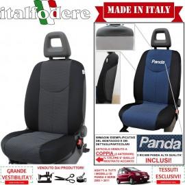 Coppia Coprisedili Specifici Fiat Panda II 2003-11 Fodere Foderine Solo Anteriori Colore 38
