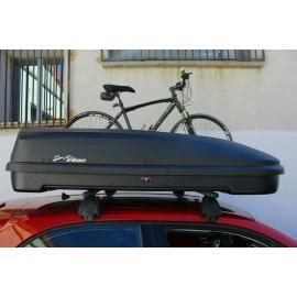 BOX BAULE DA TETTO AUTO 580Litri Cofano Carbox Portabagagli Portapacchi Portasci