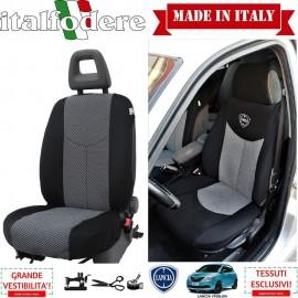 Coppia Coprisedili Specifici Lancia Ypsilon 3 Porte dal 2003 al 2011 Fodere Foderine Solo Anteriori VARI COLORI