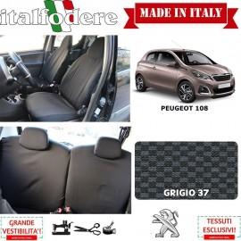 FODERE COPRISEDILI Su Misura per Peugeot 108 Fodera FODERINE COMPLETE Colore 37