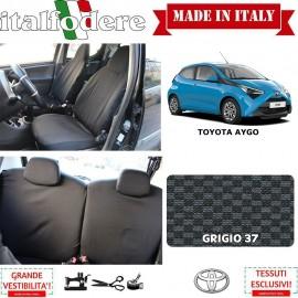 FODERE COPRISEDILI Su Misura per Toyota Aygo Fodera FODERINE COMPLETE Colore 37