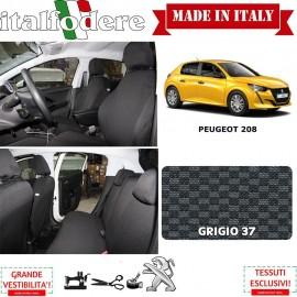 FODERE COPRISEDILI Su Misura per Peugeot 208 Fodera FODERINE COMPLETE Colore 37