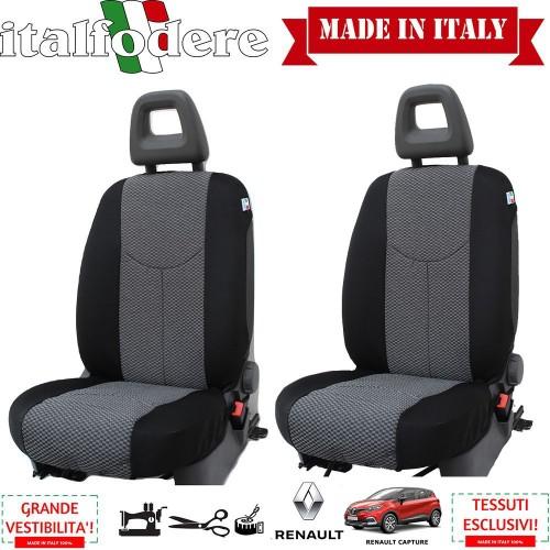 Coppia Coprisedili Specifici Renault Captur Fodere Foderine Solo Anteriori Colore 37