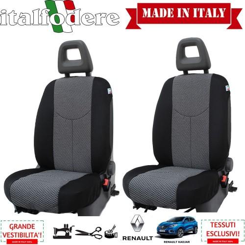 Coppia Coprisedili Specifici Renault Kadjar Fodere Foderine Solo Anteriori Colore 37