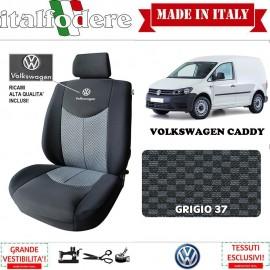 Coppia Coprisedili Specifici Volkswagen Caddy Fodere Foderine Solo Anteriori Colore 37