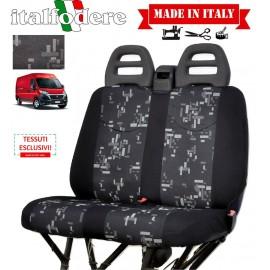 Coprisedili adattabili Fiat Ducato 3 posti Fodere Foderine Solo Anteriori Colore 33