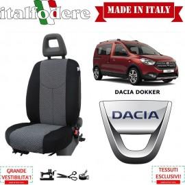 Coppia Coprisedili Specifici Dacia Dokker Fodere Foderine Solo Anteriori Colore 37