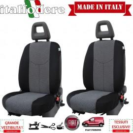 Coppia Coprisedili Specifici Fiat Fiorino Fodere Foderine Solo Anteriori Colore 37
