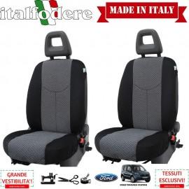 Coppia Coprisedili Specifici Ford Tourneo Custom Fodere Foderine Solo Anteriori Colore 37