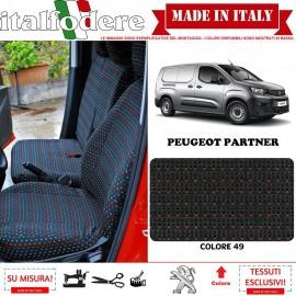 FODERE COPRISEDILI Su Misura per Peugeot Partner Fodera FODERINE COMPLETE Colore 49