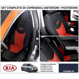 Fodere Coprisedili Specifici Kia Stonic Azzurro 39 Set Completo Foderine Anteriori Posteriori Divisi