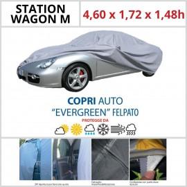 Copriauto Station Wagon M - 4,60 x 1,72 x 1,48h -Felpato in Materiale Speciale Con Zip Portiera lato guida