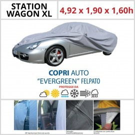 Copriauto Station Wagon XL - 4,92 x 1,90 x 1,60h - Felpato in Materiale Speciale Con Zip Portiera lato guida