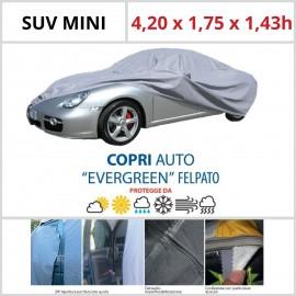 Copriauto SUV Mini - 4,20 x 1,75 x 1,43h - Felpato in Materiale Speciale Con Zip Portiera lato guida