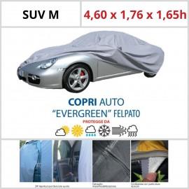 Copriauto SUV M - 4,60 x 1,76 x 1,65h - Felpato in Materiale Speciale Con Zip Portiera lato guida
